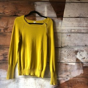 Bold Bright J Crew Medium Factory Mustard Sweater